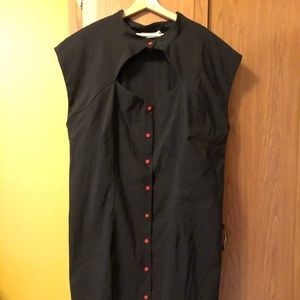 Stop Staring black dress rockabilly pin-up sz 26